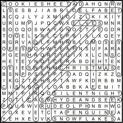 Xmas Word Search